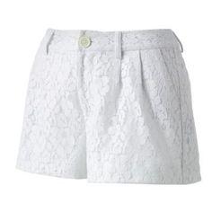 LC Lauren Conrad Lace Shorts, $19.20
