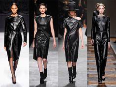leather fashion for women | Fashion Black leather Clothes Fall 2012, Winter 2013: Ferretti ...
