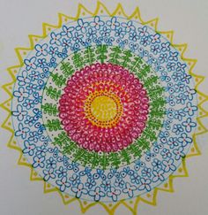 Today's  mandala  with markers, Celebration  of life