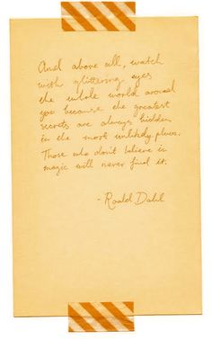Repinning on the off-chance that this is really a facsimile of his manuscript, because I love Dahl.