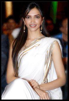 Deepika Padukone in Handloom saree