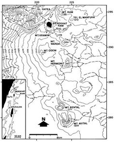 Berekhat Ram map    The Acheulian site of Berekhat Ram is located on the western flank of the Berekhat Ram crater lake in the northernmost part of the Golan Heights. The general region is a Pleistocene volcanic plateau composed of a varied series of basalt flows, cinder cones and other tephra rock materials.