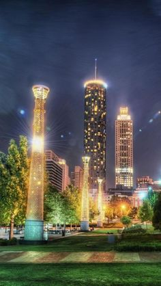 Downtown, Night, Atlanta, Georgia, United States Web: http://pateltravel.com/ Email: info@pateltravel.com