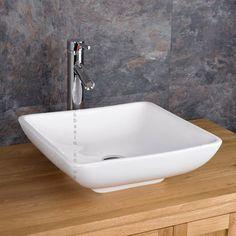 Carrara 40cm x 40cm Square Counter Top Washbasin