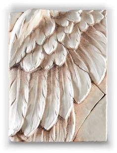 angel's wing...sid dickens....would be cool on a canvas built up with golden mediums and pastes and then painted & waxed