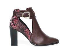 Cut-out-boots-python-bordeaux-Eram-Automne-Hiver-2014 Boots Talon, Python, Bordeaux, Ankle, Heels, Fashion, Boots, Fall Winter 2014, Bags
