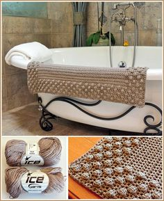 Crochet Bath Mat Patterns and Other Free Bathroom Patterns: 5 More Free Crochet Bath Mat Patterns