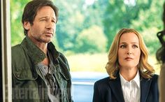 'X-Files' returns: New EW exclusive photos - Mulder and Scully (and Joel McHale), Chris Carter, Annet Mahendru, a peek at the first script, and more pics previewing series revival