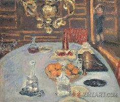 Artist Painted Table Setting Pierre Bonnard