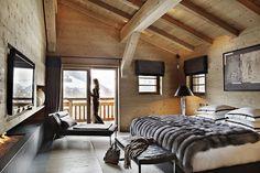 Fur blanket, fireplace & wood