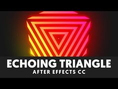 T041 Retro Echoing Triangle Cube After Effects Tutorial - YouTube