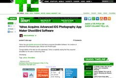 http://techcrunch.com/2013/06/12/yahoo-acquires-advanced-ios-photography-app-maker-ghostbird-software/ ... | #Indiegogo #fundraising http://igg.me/at/tn5/