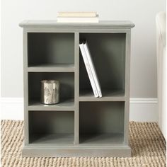 Maralah Ash Grey Bookcase | Overstock.com Shopping - Great Deals on Safavieh Media/Bookshelves $174  30.1 hx 25w x 10.6d