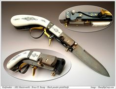 Black Powder Pistol/Knife - ABS Mastersmith - Bruce D. Bump