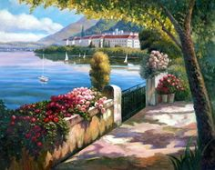 "Oil Painting ""Mediterranean Seascape"" 24x30 in. #Impressionism"