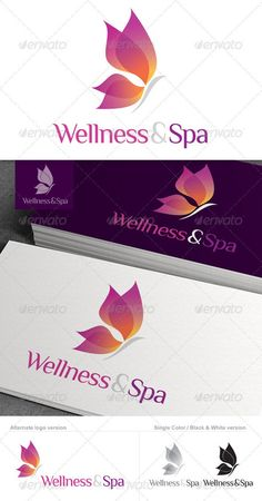 I really like the colors and gradient effect chosen. It does a good job representing a wellness spa because the colors are soothing