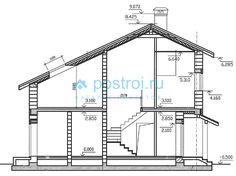 Проект дома W-169-1P - разрез