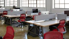 MASHstudios | Classic Benching Workstations with Tackboard Dividers