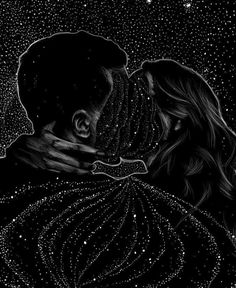 Feyrhys painting of their bond connecting every star and making them shine brighter to keep the darkness out.
