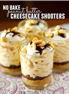 HEAVENLY No-Bake Peanut Butter Cheesecake Shooters! #Food #Drink #Trusper #Tip