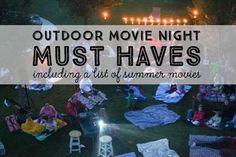 Outdoor Movie Night Must Haves   eBay