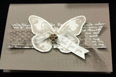New Stampin' Up! In Colour New Stampin' Up! 2015-2016 Tip Top Taupe, also a sneak peek of Watercolor Wings stamp set, and In Colour lace, resin flowers and patterns DSP.