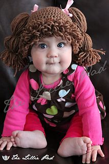 Cabbage patch crochet pattern. Perfect for a little bald girl
