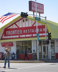 It has to be said that The Frontier Restaurant in Albuquerque has the best green breakfast burritos, cinnamon buns, green chile stew and a fresh HOT pack of tortillas to take home!!! YUM!