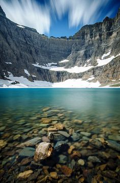 Iceberg lake, glacier national park.