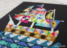 Voyage Modern Pirate Ship cross stitch di SatsumaStreet su Etsy