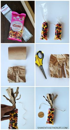 Make Indian Corn Thanksgiving favors with this step by step tutorial. Stamp the tags with words of Thanksgiving or guests' names for place cards! Thanksgiving Name Cards, Thanksgiving Favors, Thanksgiving Day Parade, Thanksgiving Parties, Thanksgiving Decorations, Indian Thanksgiving, Thanksgiving Recipes, Thanksgiving Prayer, Thanksgiving Outfit