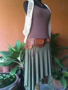 Leather Utility Belt Bag - The Lotus- Steampunk, Travel Purse, Money Belt, Fanny Pack, Hip Bag