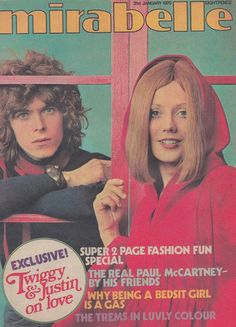 David featuring as an uncredited model on teen mag Mirabelle, 31 January 1970