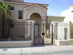 Our Top 10 Modern house designs – Modern Home Dream Home Design, My Dream Home, House Design, D House, House Front, Style At Home, Fence Gate Design, Fachada Colonial, Mexico House