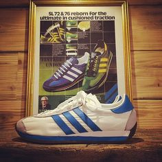 new #jewel in store #adidascountryog #adidasarchive #1980 #originalshape #display #adidasvintage @adidasoriginals @vintage_adidas_archive #sneakersmuseum #sneakerslimitededition #shoescasual