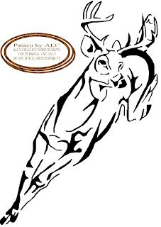 wood burning patterns free | ALF'S CREATIVE WOOD DESIGN'S: deer running