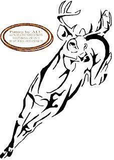 wood burning patterns free | ALF'S CREATIVE WOOD DESIGN'S: deer running