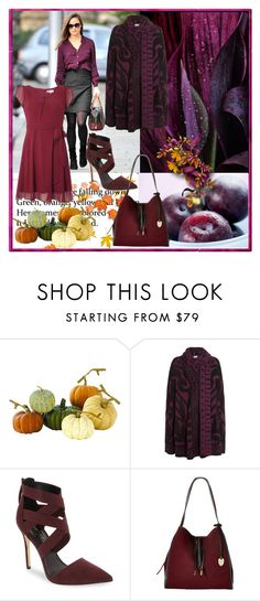 """""""Pumpkin & Plum"""" by loveliest-back ❤ liked on Polyvore featuring Pippa, Home Decorators Collection, Temperley London, Daya, London Fog and Billie & Blossom"""