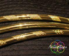 Gold Rush Metallic Polypro Hula Hoop by NeonHoops on Etsy, $32.95