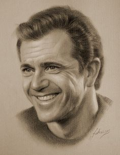 new pictures: Beautiful Portrait Pencil Art by - Krzysztof Lukasiewicz Portrait Au Crayon, Pencil Portrait, Portrait Cartoon, Celebrity Drawings, Celebrity Portraits, Pencil Art, Pencil Drawings, Mel Gibson, Drawing Techniques