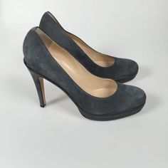 Luca Luca Suede Platform Pumps - Size 10 - Brand New -  Retail price $495 - Our price $75 - Sale benefits The Butterfly Program