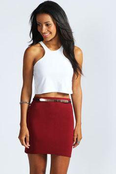 Mary Jersey Mini Skirt at boohoo.com