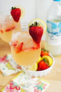 Strawberry Lemonade Spritzer..