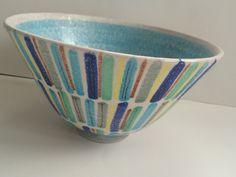 Italian Bowl Raymor Italy Pottery Bitossi 1960s Ceramics by estatechicago on Etsy