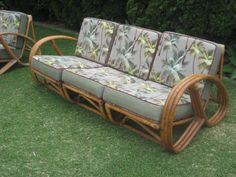 Real much like the vintage rattan couch and chair that I bought this weekend for my screen porch.