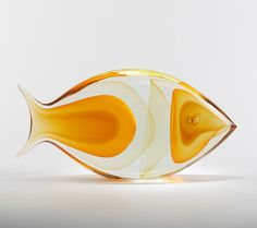 Superb Murano Glass Fish Sculpture By Romano Dona 20Th C.