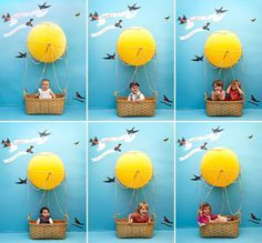 Need a photo booth idea for your kid's party? Build a hot air balloon! | Offbeat Families
