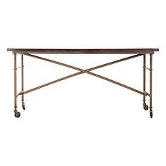 Tisch aus Eisen  braun, goldfarben  160 x 80 x 78 cm