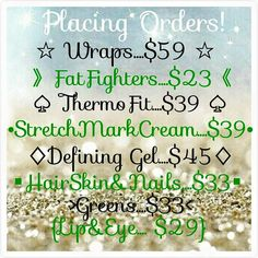 Happy Friday! !!Reward yourself after the long rainy week! You deserve it! I also have body and facial wraps on hand! 1 for $25 OR 2/$40. mskasey.myitworks.com