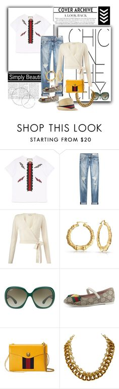 """""""the cover archives chic{k}"""" by g-vah-styles ❤ liked on Polyvore featuring Gucci, rag & bone, Miss Selfridge, Bling Jewelry, Ray-Ban, Chanel and thenamegame"""